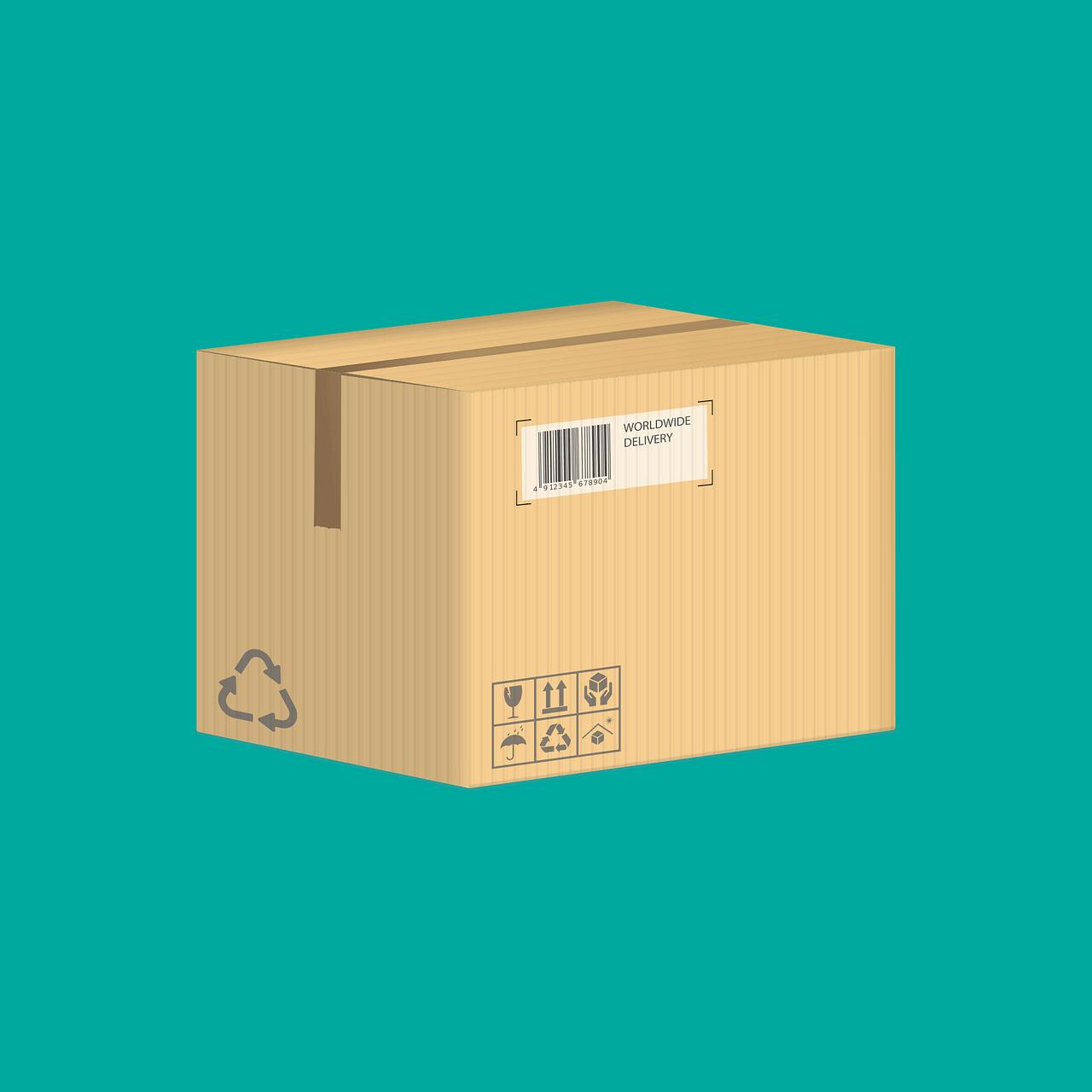 almacenamiento de cajas